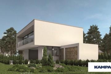 Casa in Legno Linea Architettonica Kubos Mod 1.1150