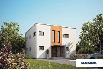 Modello Casa in Legno Linea Architettonica Kubos Mod 1.1420 di KAMPA ITA