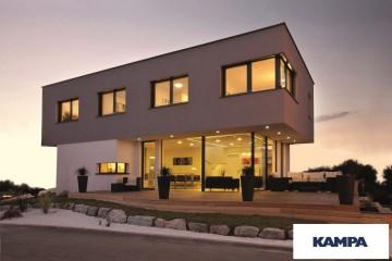 Modello Casa in Legno Linea Architettonica Kubos Mod 1.1500 di KAMPA ITA