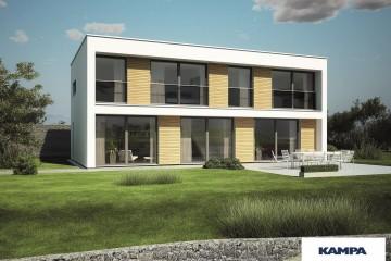 Realizzazione Casa in Legno Linea Architettonica Kubos Mod 1.1830 di KAMPA ITA
