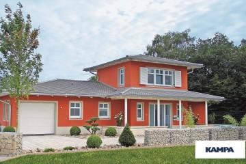 Realizzazione Casa in Legno Linea Architettonica Claron Mod 1.1800 di KAMPA ITA