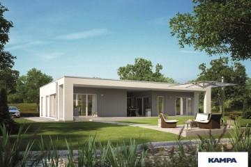 Modello Casa in Legno Linea Architettonica Claron Mod 2.1150 di KAMPA ITA