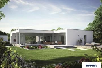 Modello Casa in Legno Linea Architettonica Claron Mod 2.1400 di KAMPA ITA