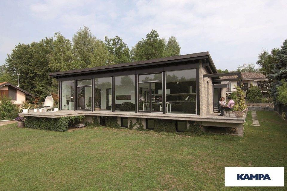 Casa in Legno in stile Moderno: Linea Architettonica Claron Mod 3.0970