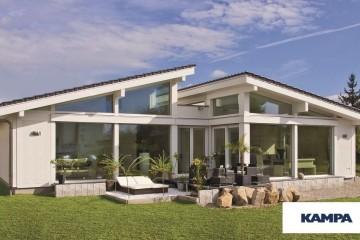 Realizzazione Casa in Legno Linea Architettonica Claron Mod 3.1290 di KAMPA ITA