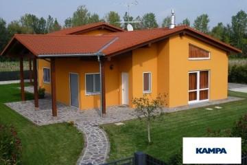 Realizzazione Casa in Legno Linea Architettonica Claron Mod 4.1210 di KAMPA ITA