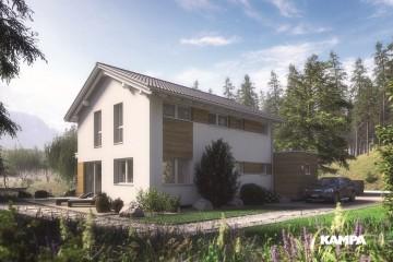 Modello Casa in Legno Linea Architettonica Lanos Mod. 1.1440 di KAMPA ITA