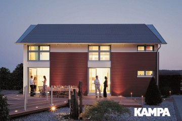 Realizzazione Casa in Legno Linea Architettonica Lanos Mod. 1.1530 di KAMPA ITA