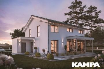 Realizzazione Casa in Legno Linea Architettonica Lanos Mod. 1.1920 di KAMPA ITA