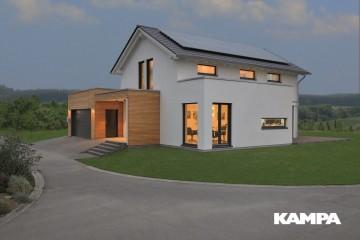 Realizzazione Casa in Legno Linea Architettonica Lanos Mod. 2.1460 di KAMPA ITA