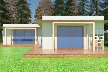Modello Casa in Legno Villa Versilia NZEB di ProgettoLegno Case in Legno