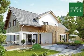 Modello Casa in Legno Villa bifamiliare 2x147 di Brennerhaus