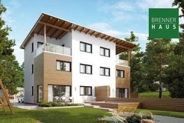 Modello Casa in Legno Villa bifamiliare 2x139 con 3. piano di Brennerhaus