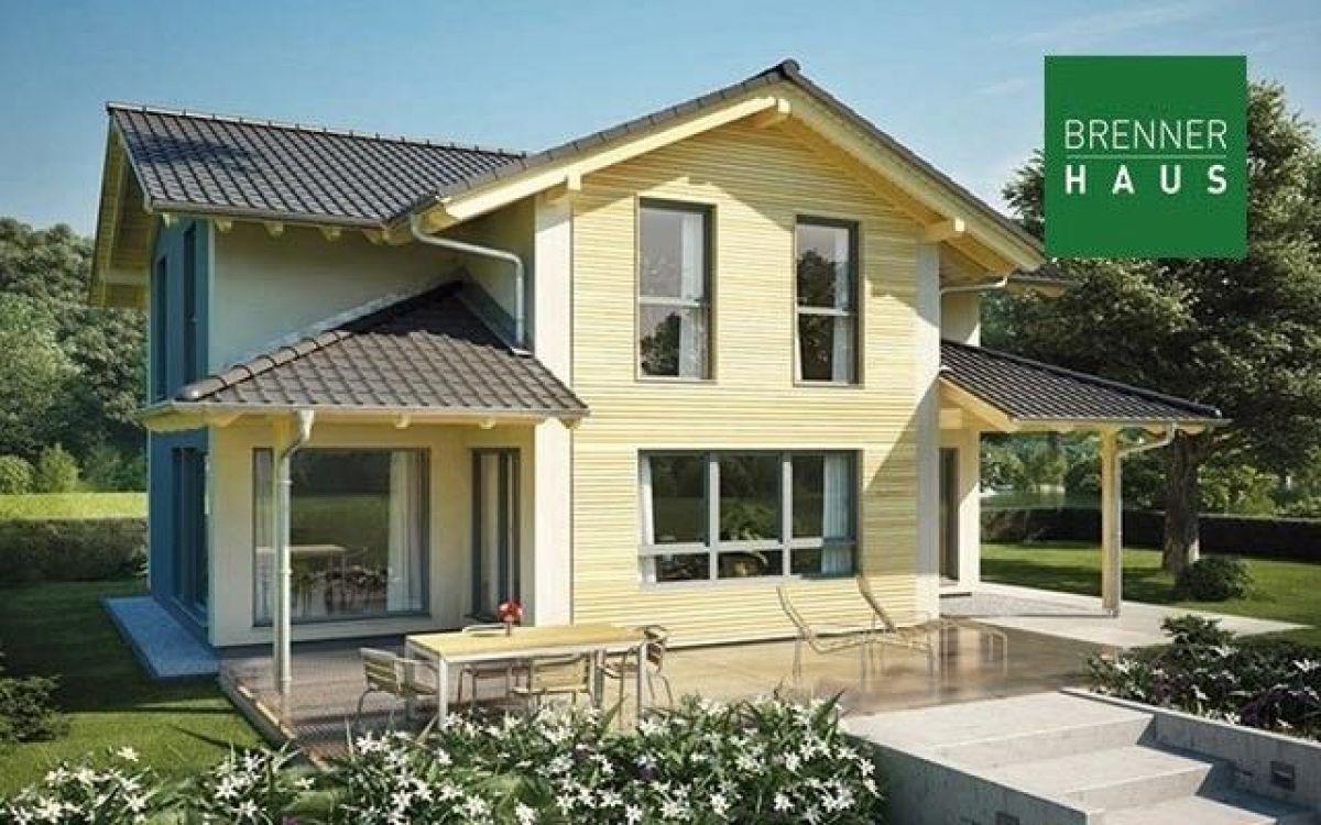 Casa in legno modello villa 180 25 di brennerhaus for Costruttore di case virtuali