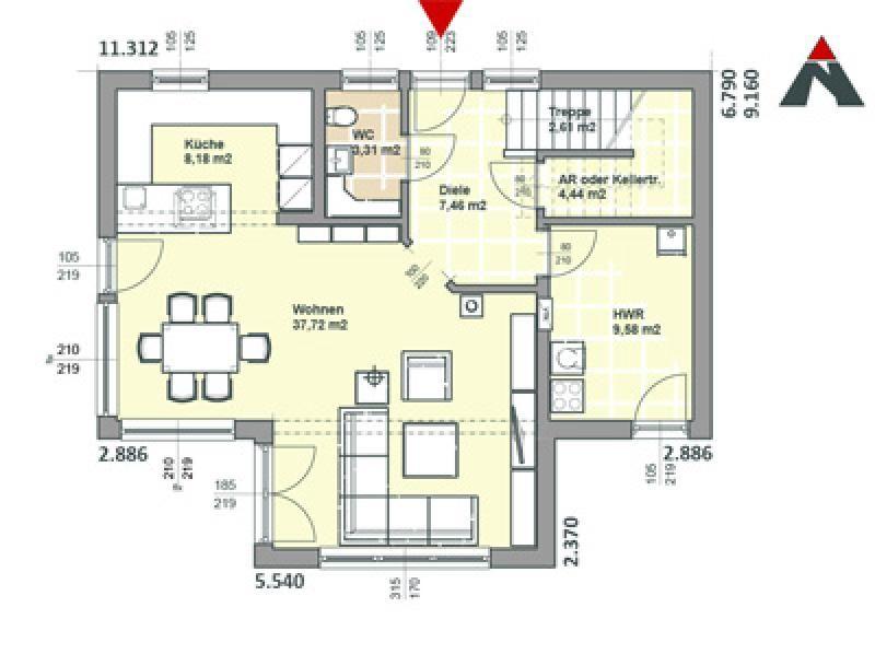 Case in legno Brennerhaus Villa 180 - 25°