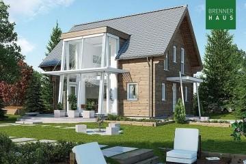 Modello Casa in Legno Blockhaus 224 di Brennerhaus