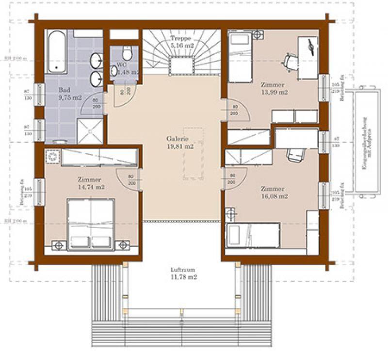 Case in legno Brennerhaus Blockhaus 224