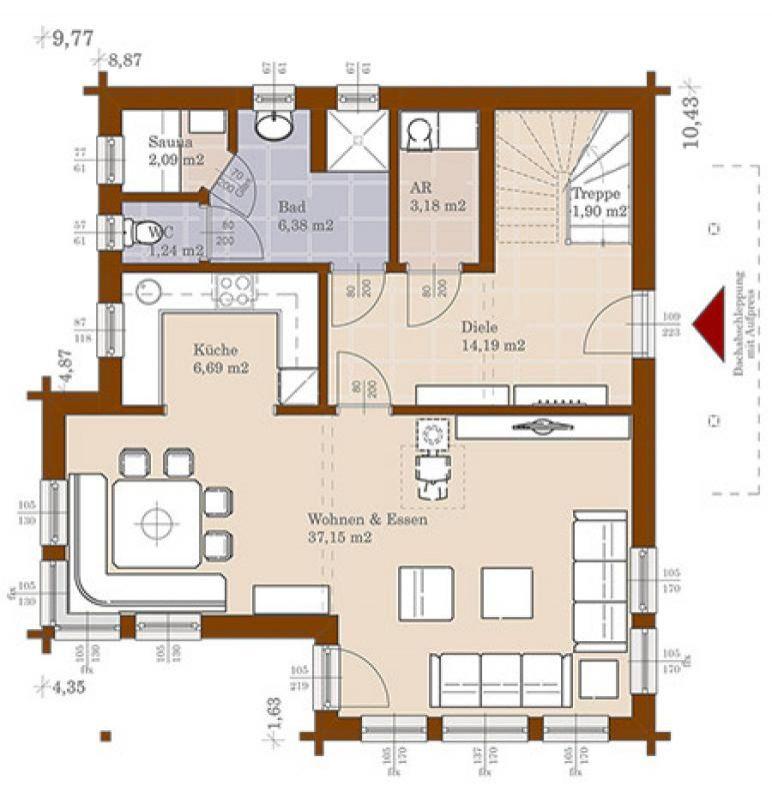 Case in legno Brennerhaus Blockhaus 174