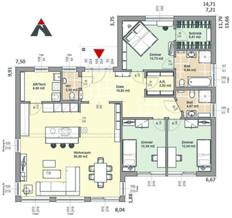 Case in legno Brennerhaus Villetta 160