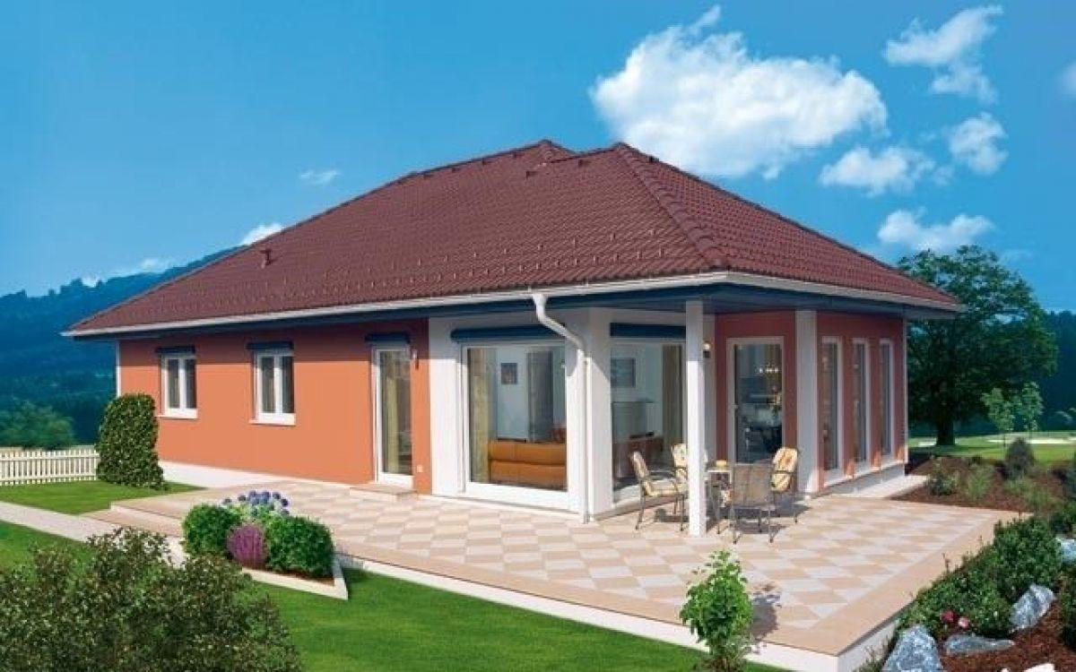 Modello casa in legno modello villetta 145 di brennerhaus for Case bungalow progettano immagini filippine