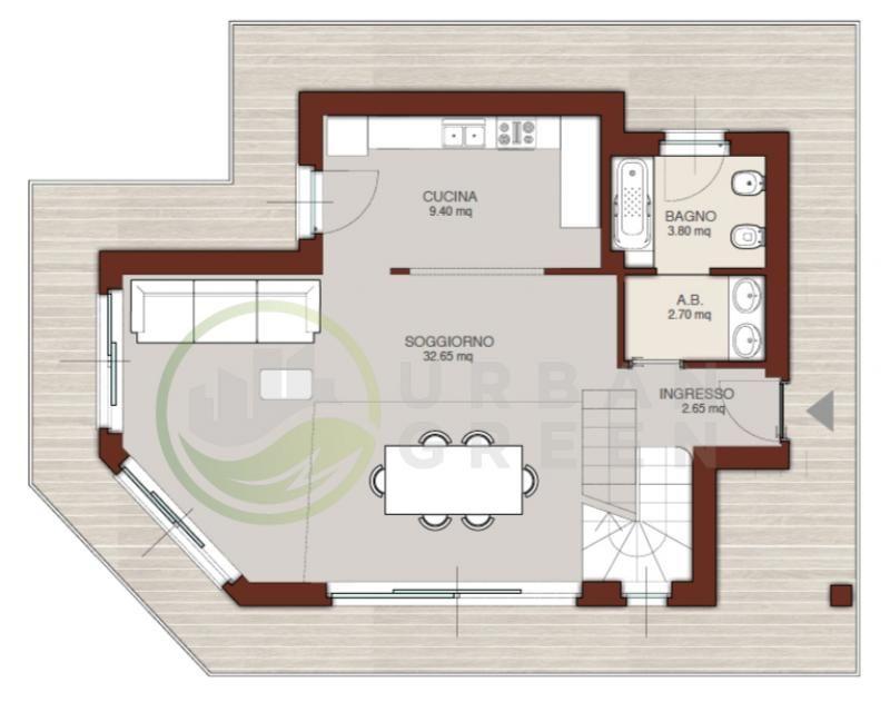 Urb 01 urban green case e villette in legno - Casa su due piani progetto ...