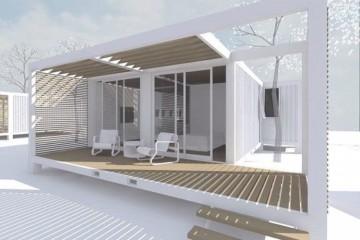 Modello Casa in Legno Casa in acciaio di LARPAF srls