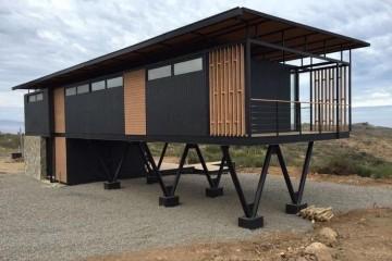Modello Casa in Legno Modulo abitativo in acciaio e legno di LARPAF srls
