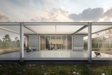 Modello Casa in Legno Bungalow in acciaio di LARPAF srls