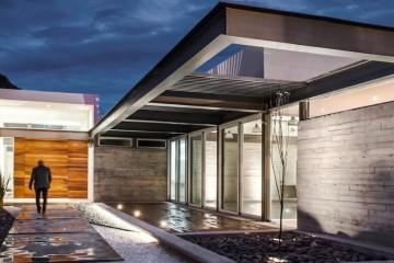 Modello Casa in Legno Villa in acciaio di LARPAF srls