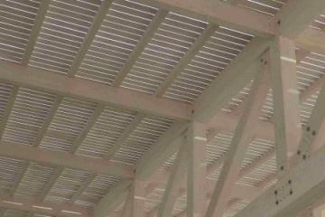 Realizzazione Tetto in Legno Edificio Industriale di BCL Bergamasca Costruzioni Legno