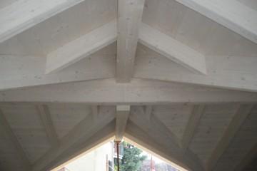 Casa in Legno Tetto Sbiancato legno lamellare certificato PEFC - FSC