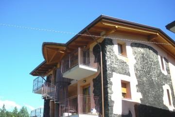 Casa in Legno Sopraelevazione legno lamellare certificato PEFC FSC - provincia di Bergamo
