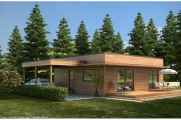 Bungalow di Legno modello Italia 1 di HEALTHY LIFE HOUSES & WHEELS HOUSES