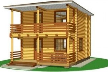 Chalet di Legno ecocottage Italia 4 di HEALTHY LIFE HOUSES & WHEELS HOUSES