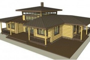 Chalet di Legno ecocottage 1 di HEALTHY LIFE HOUSES & WHEELS HOUSES