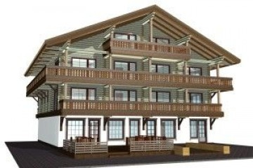 Chalet di Legno ecohotel in stile chalet alpino di HEALTHY LIFE HOUSES & WHEELS HOUSES