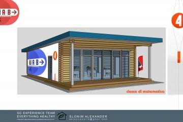 Casetta di Legno modulo scuola in legno massiccio di HEALTHY LIFE HOUSES & WHEELS HOUSES