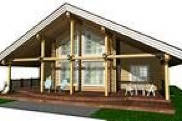 Chalet di Legno ECOCOTTAGE RESIDENZIALE DI MONTAGNA di HEALTHY LIFE HOUSES & WHEELS HOUSES