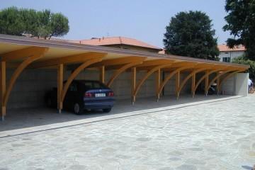 Tettoia Porticato in Legno Pensiline Fotovoltaiche