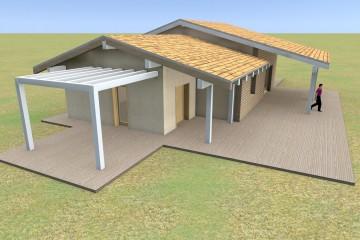 Modello Casa in Legno SILVIA di Euroedilegno srl
