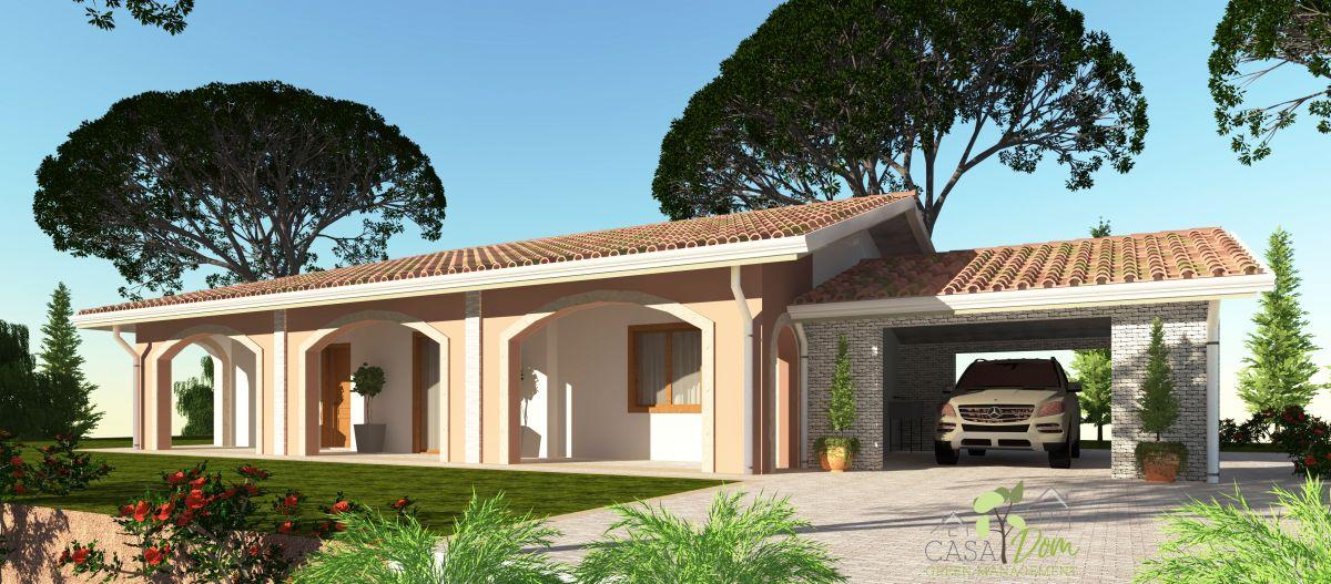 Casa in legno modello villa luisa 100 mq con garage di for Casa con garage indipendente e breezeway