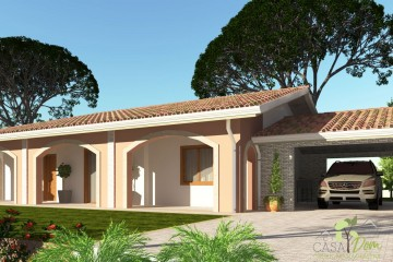 Modello Casa in Legno Villa Luisa 100 mq con Garage di CASA Dom