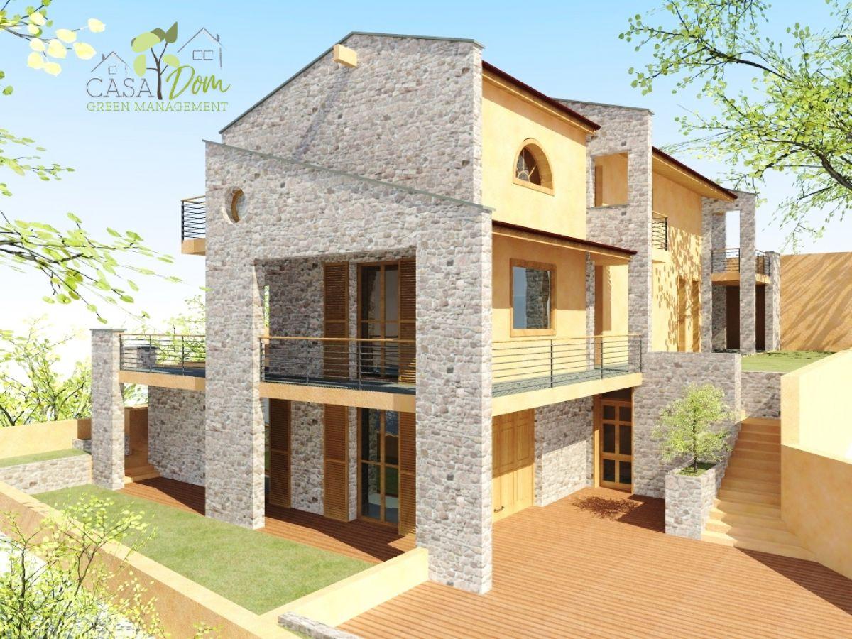 Casa in legno modello villa verona 200 mq di casa dom for Case in legno 150 mq