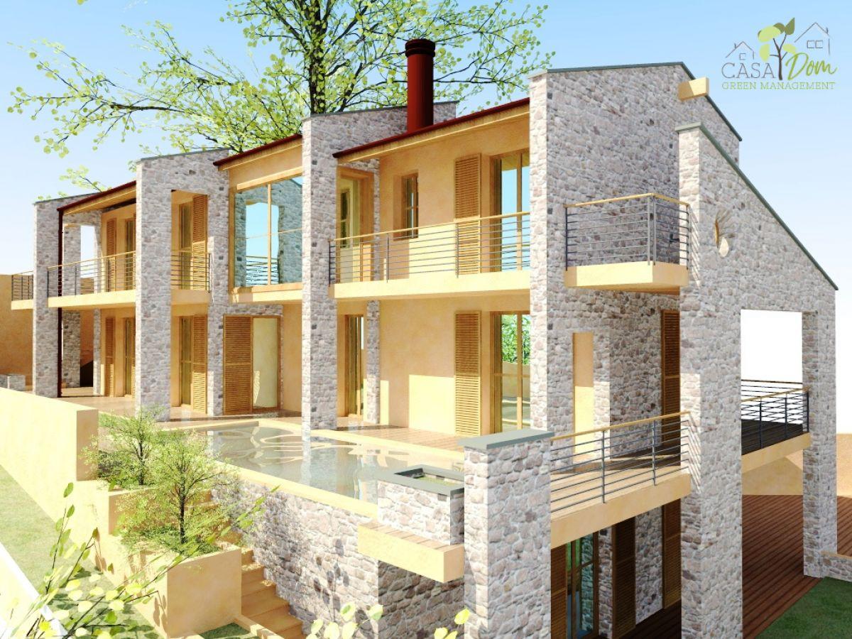 Ville con portico in legno villa portico in legno with for Portico moderno