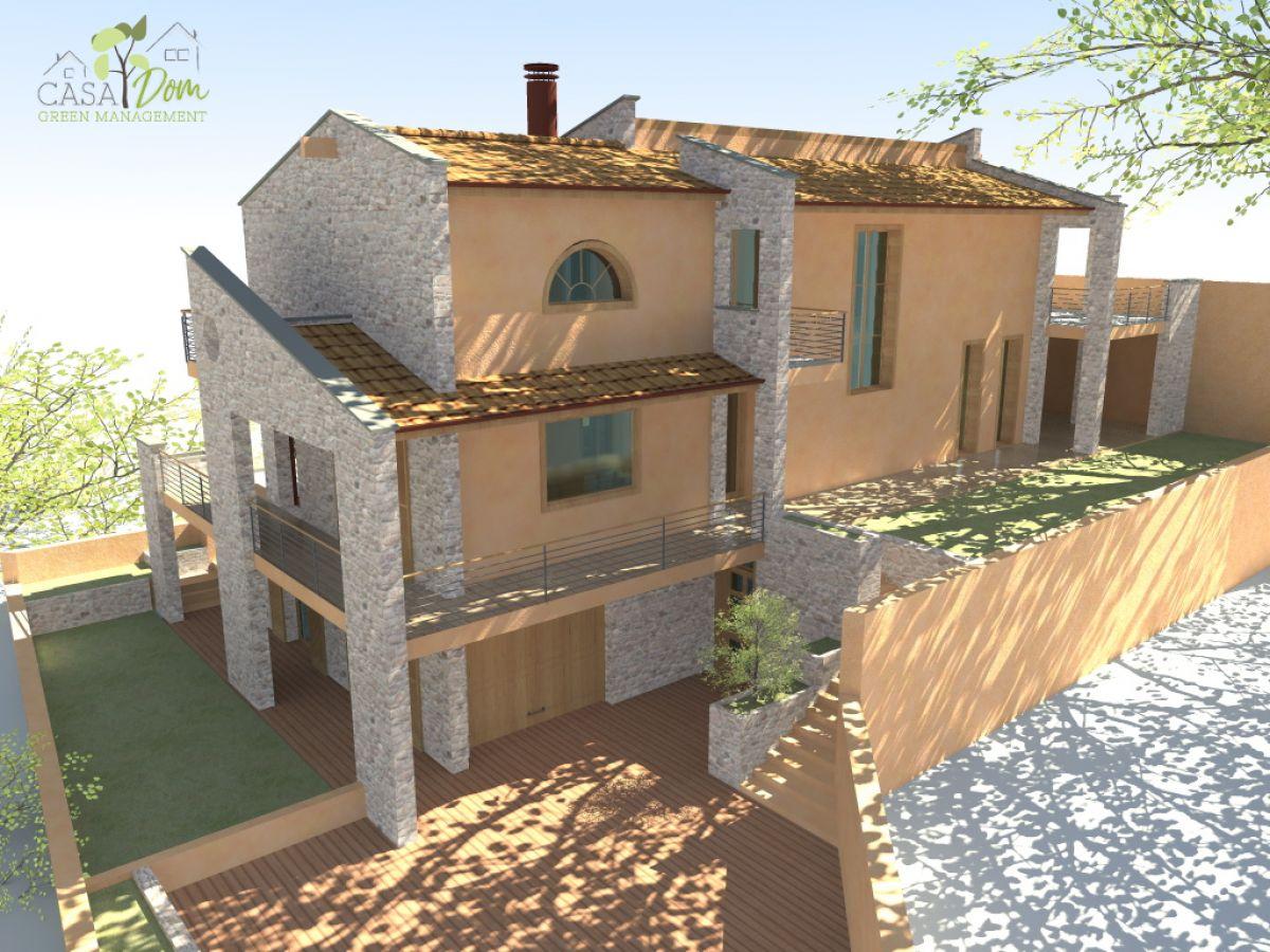 Casa in legno modello villa verona 200 mq di casa dom - Quanto costa costruire una casa di 200 mq ...