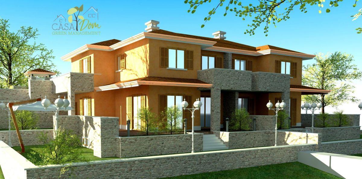 Casa in legno modello villa giulia bifamiliare di casa dom for Costruttore di case da sogno virtuale