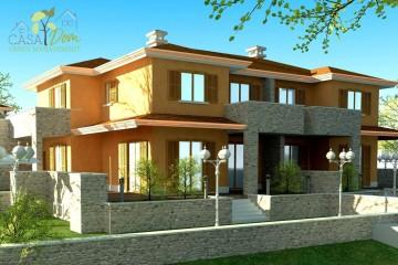Modello Casa in Legno Villa Giulia Bifamiliare di CASA Dom