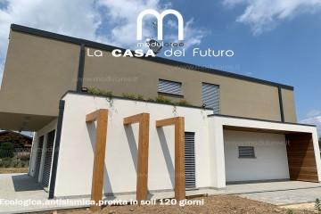 Realizzazione Casa in Legno Villa Veruno di modularee srl