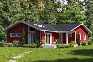 Modello Casa in Legno MODELLO 132 di NORGES HUS