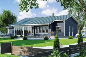 Modello Casa in Legno MODELLO 108 di NORGES HUS